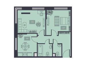 Планировка 2-комнатной квартиры в Талисман на Дмитровском